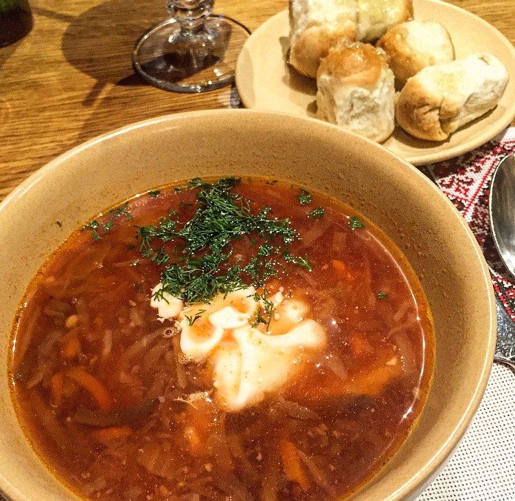 Traditional Borsch Soup